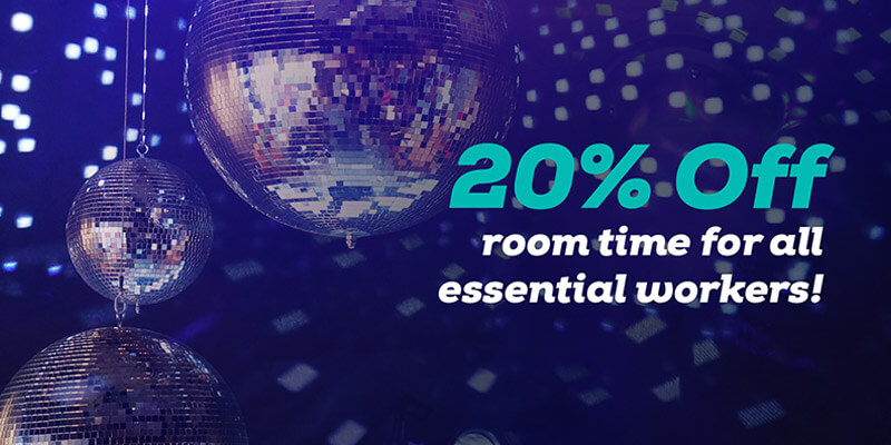 Essential Workers Special - 20% off room time